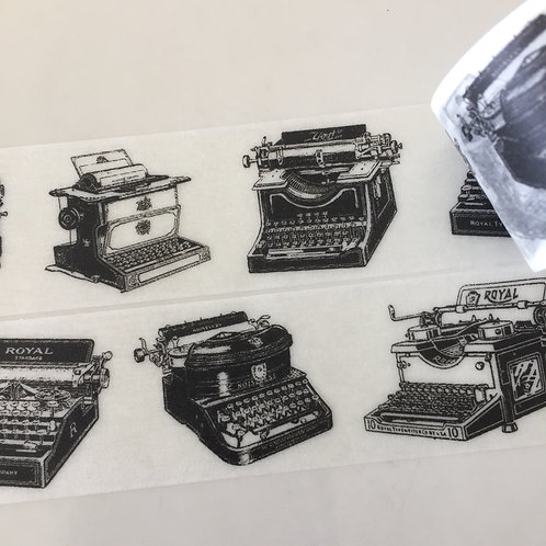 Wide Vintage Typrewriters - 30mm