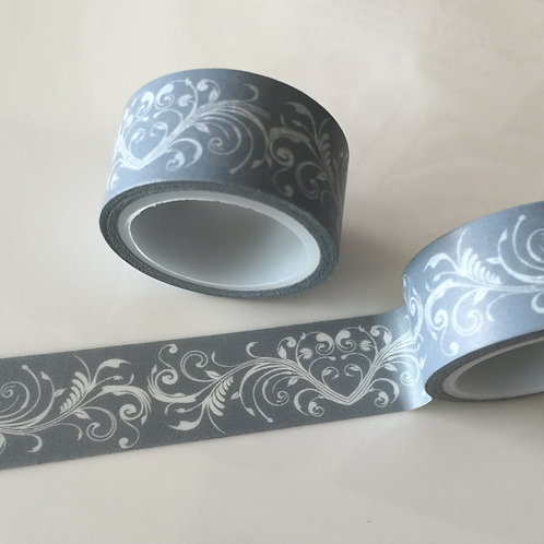 Wide Grey Flourish 20mm