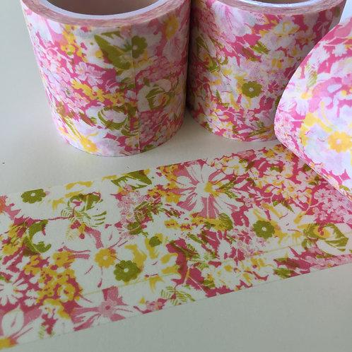 Extra Wide Pink & Lemon Floral 40mm