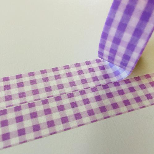 Super Value Lavender Gingham 15mm