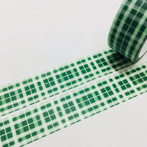 Super Value Green Tartan15mm