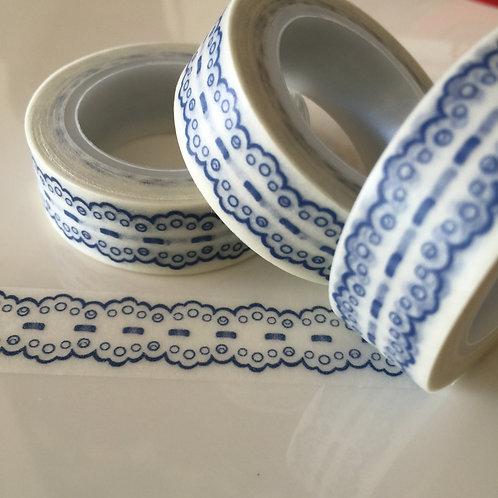 Blue Vintage Lace 15mm