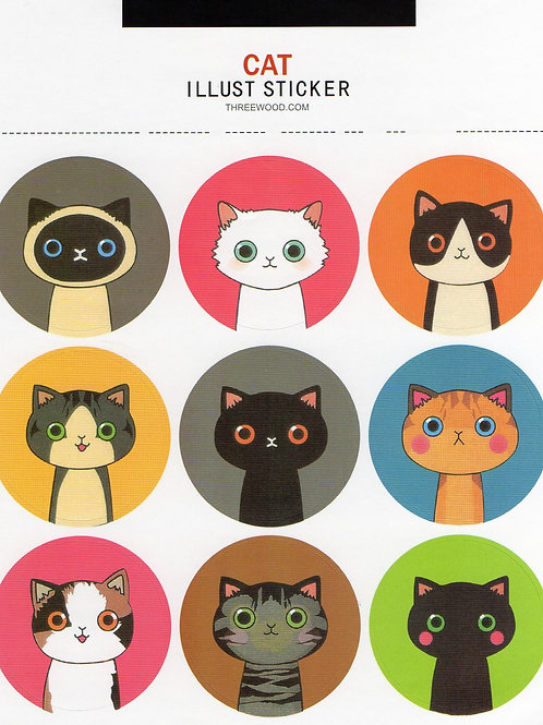 Stickers - Cats - 2 sheets