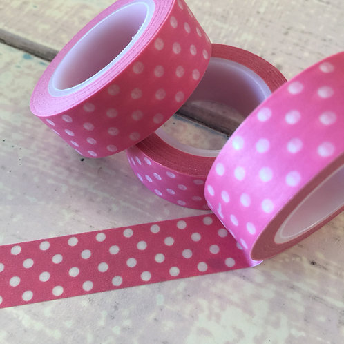 Polka Dots on Candy Pink 15mm