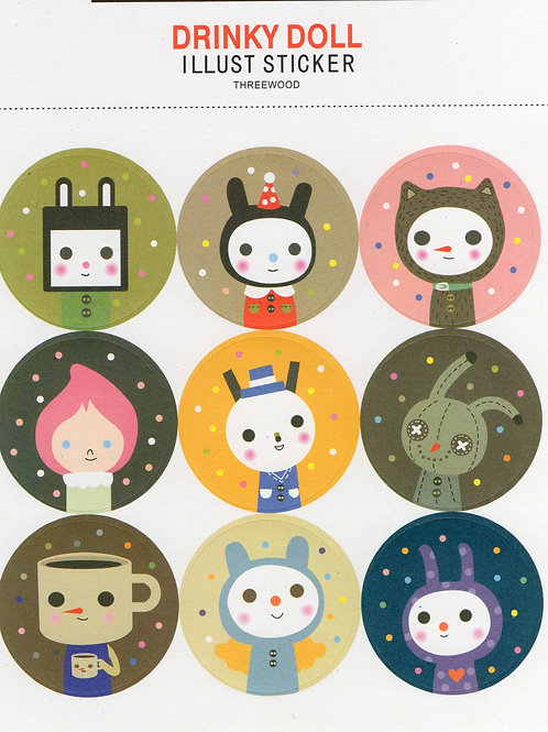 Stickers - Dolls - 2 sheets