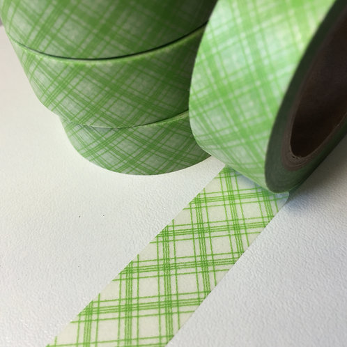 Lime Green Tartan 15mm