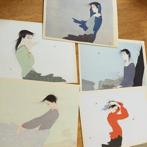 Postcard Set A - 5 Prints of Beautiful Women