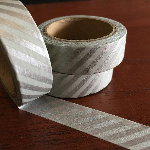 Silver Diagonal Stripe