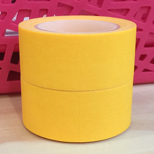 Wide Neon Brights Solid Colour Yellow 20mm