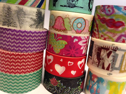 Wide Washi Tape by the 1/2 Metre