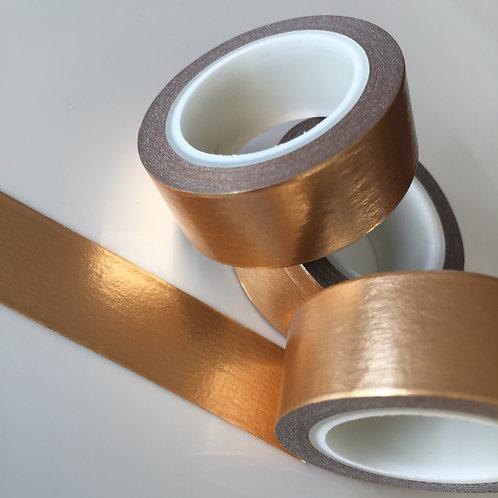 Foil Washi - Solid Colour Caramel 15mm