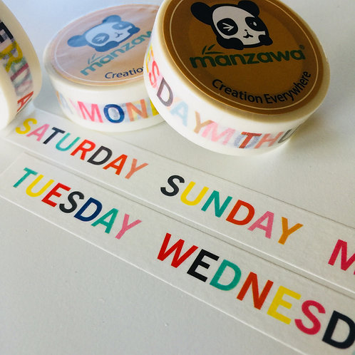 Multi Colour Days of the Week 15mm