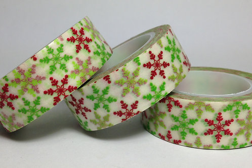 Green & Red Snowflakes