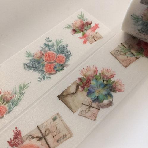 Wide Letters & Flowers 30mm
