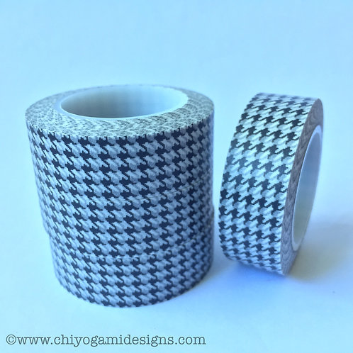 Black Houndstooth 15mm