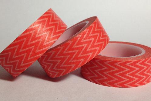 Orange Thin Chevrons 15mm