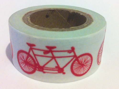 Wide Red Bicycles 20mm