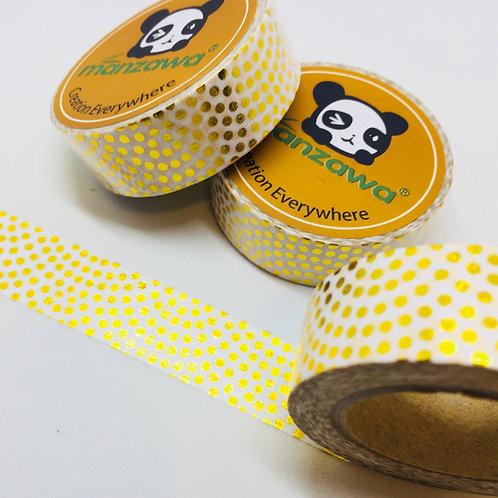 Gold Foil Wavey Dots 15mm