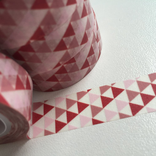 Red & Pink Triangles 15mm