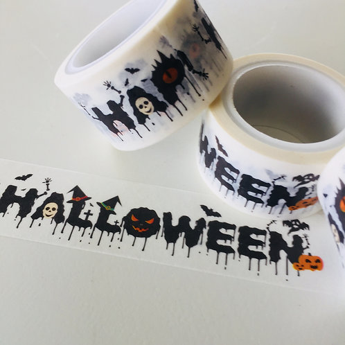 Wide Happy Halloween 20mm