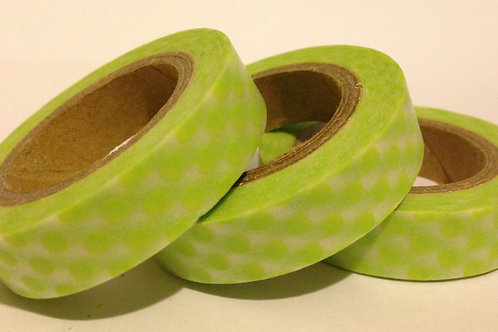Thin Lime Spots 10mm