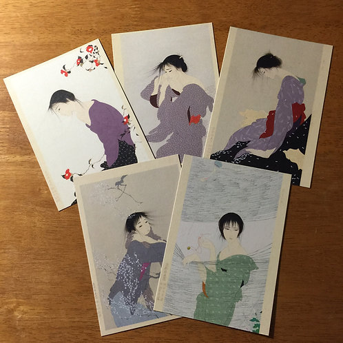 Postcard Set B - 5 Prints of Beautiful Women