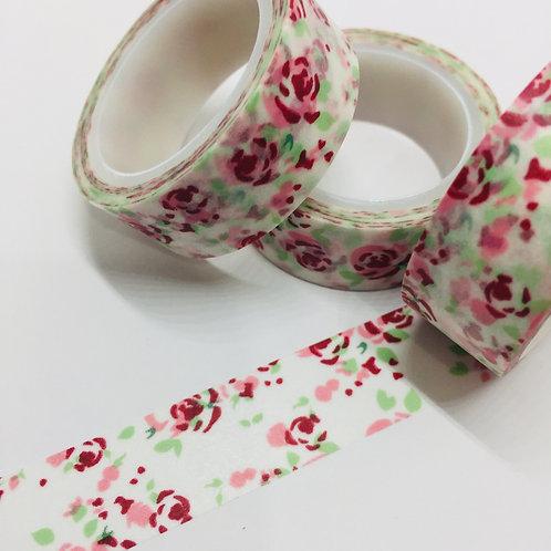 SUPER VALUE Red, Pink & Mint Floral 15mm