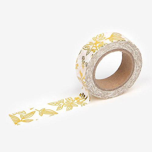 Dailylike Washi Tape - Little Bamboo - Gold 15mm