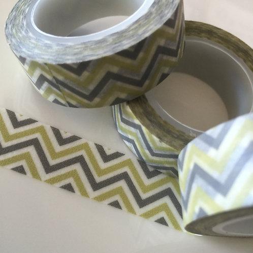 Olive/Grey Zigzag 15mm