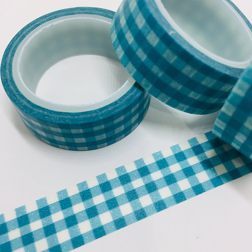 SUPER VALUE Emerald Gingham 15mm