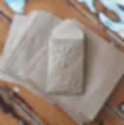 Embossed handmade envelope