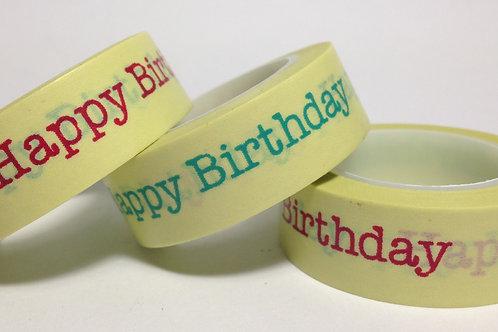 Happy Birthday on Lemon 15mm