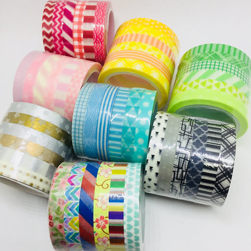 Skinny Patterned  6 Piece Sets - 6 x 6mm x 5mts in 8 Colour Ways