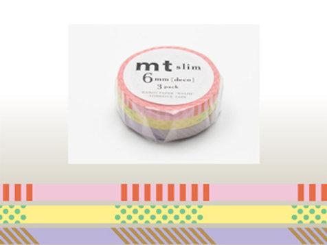 MT Slim Deco 6mm Masking Tape 3 Piece Set  A MTSLIM16