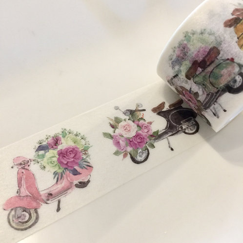 Wide Floral Scooters Mopeds 30mm