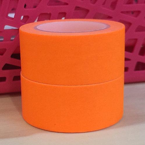 Wide Neon Brights Solid Colour Orange 20mm