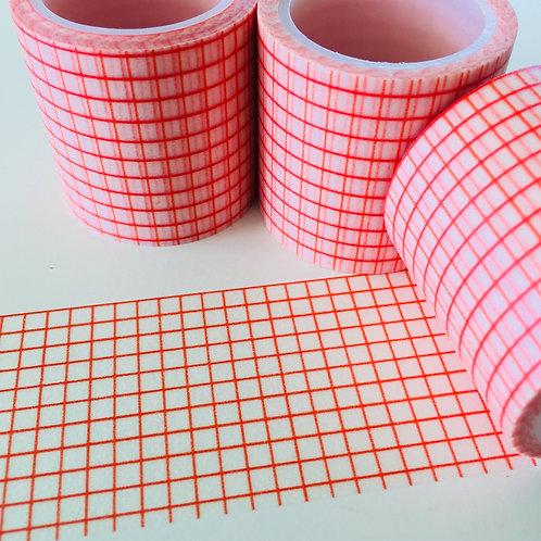 Extra Wide Orange Grid 40mm