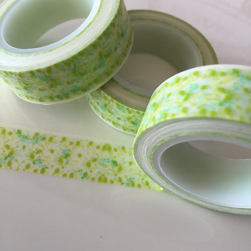 Lime Lacey Floral 15mm