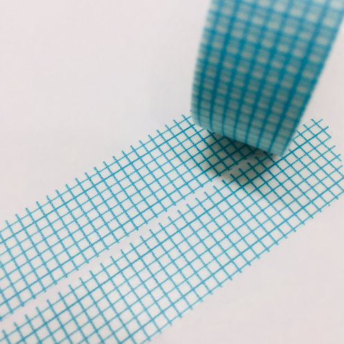 Super Value Mint/Aqua Grid 15mm