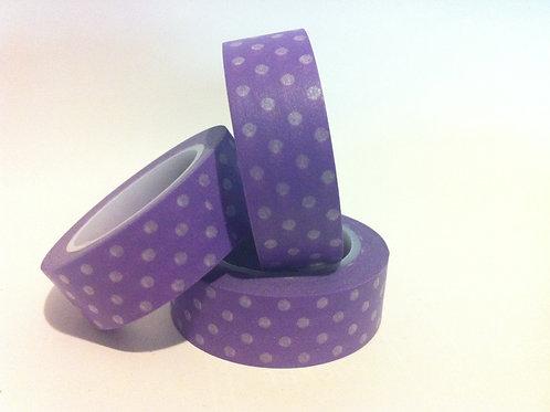 Polka Dots on Violet 15mm