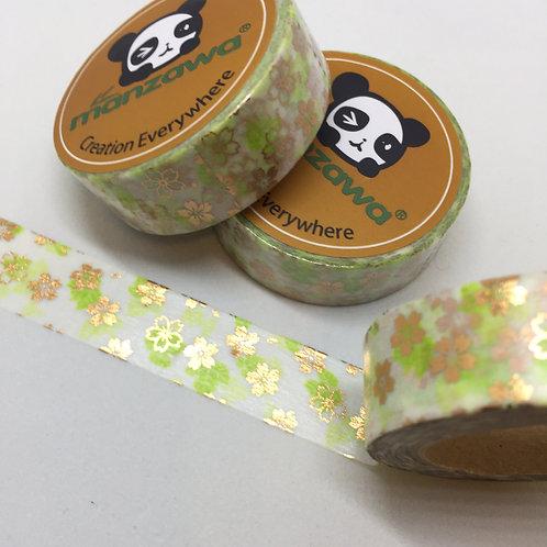 Rose Gold Sakura with Green 15mm