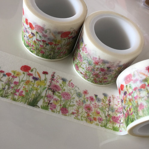 Wide Floral Meadow 30mm