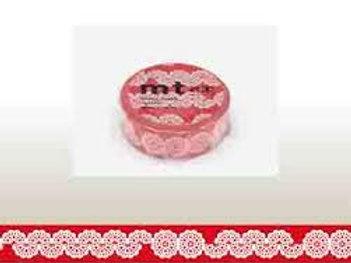 MT Masking Tape MTex Lace Circle Red 15mm MTEX1P104
