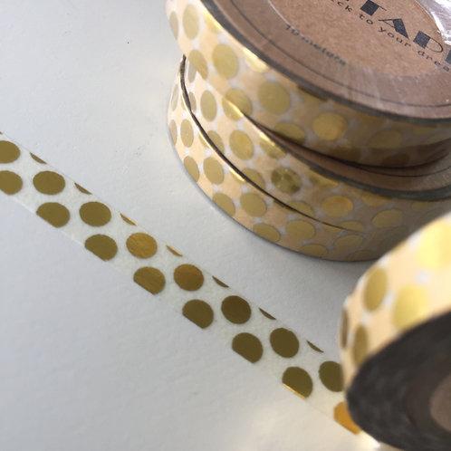 Somi Skinny Thin Gold Foil Big Spots 7.5mm