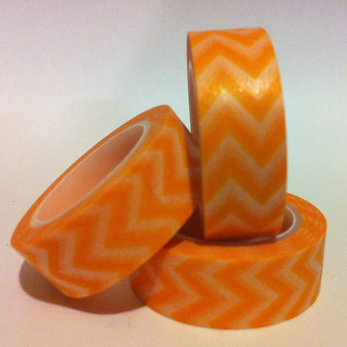 Chevrons - Orange 15mm