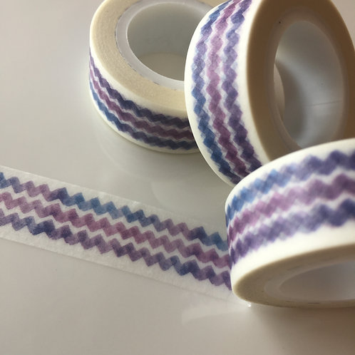 Blue Lavender Zigzag 15mm