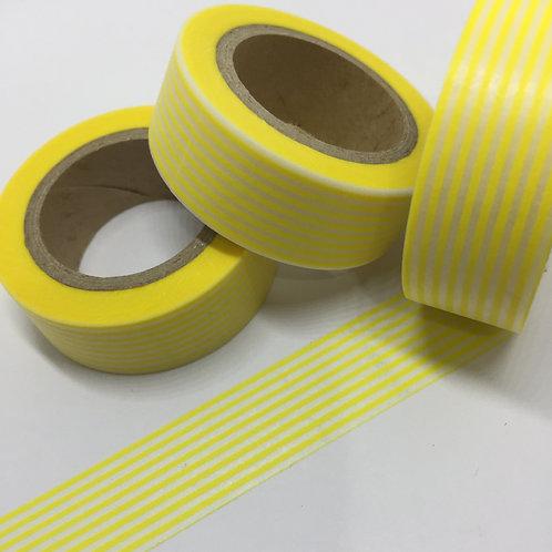 Lemon Pinstripes 15mm