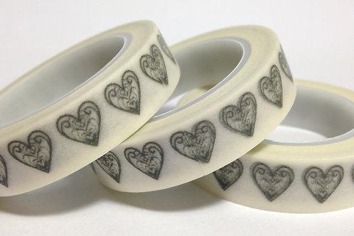 Thin Filigree Hearts 10mm