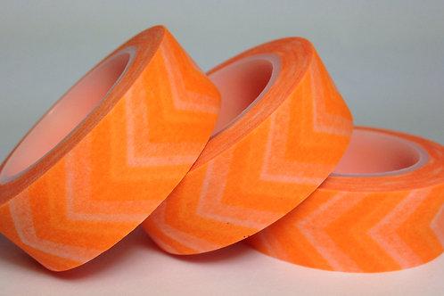 Neon Orange Wide Chevron 15mm