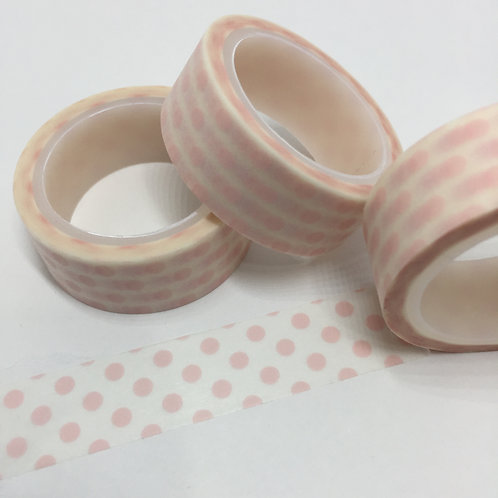 Super Value Pale Pink Polka Dots 15mm